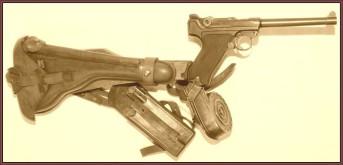 Pistole P08, Mauser Pistole P08, Waffen Teile, Waffenzubehör, Waffenersatzteile, Pistolentaschen, Magazine, Visierungen